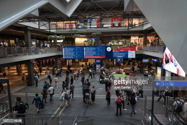 bern sbb rain station in switzerland - bern stock pictures, royalty-free photos & images