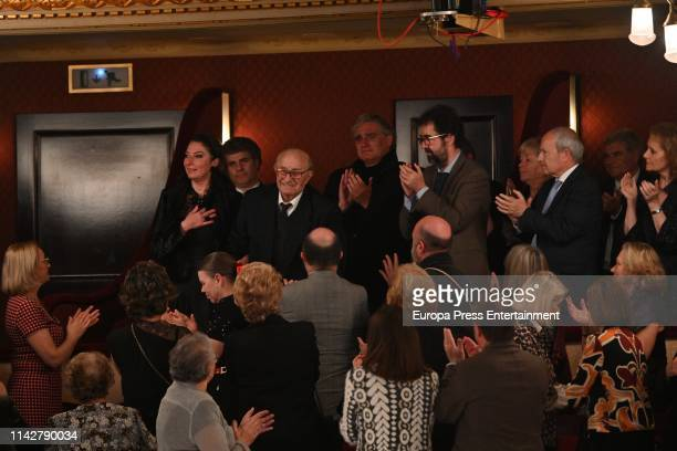 Bernabe Marti and Montserrat Marti Caballe attend the postume delivery of the Golden Medal of the City to Montserrat Caballe on April 12 2019 in...