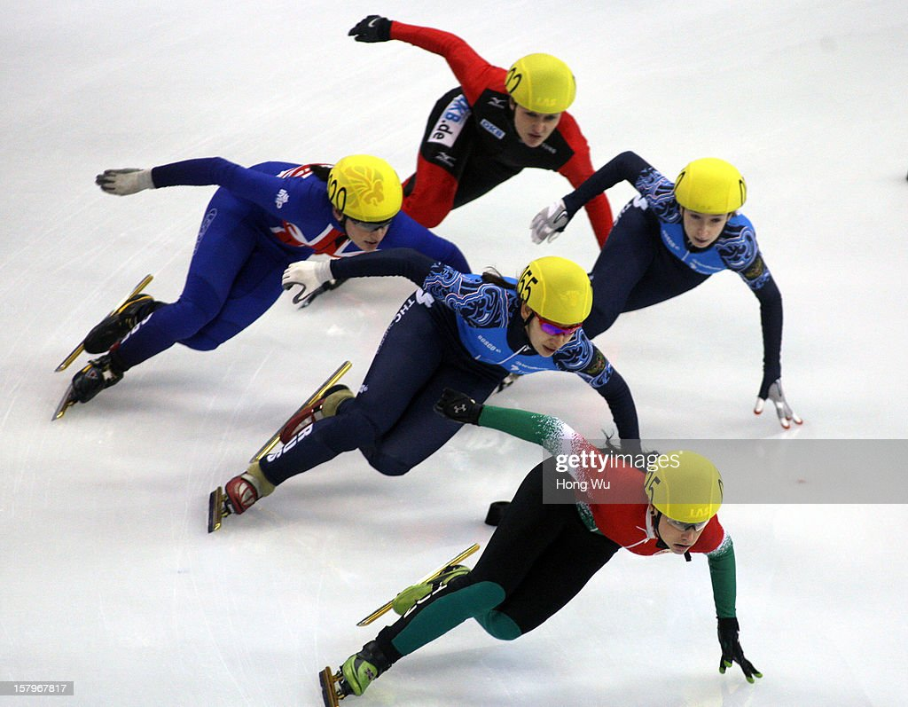 Bernadett Heidum of Hungary leads as she competes in the Women's 1500m Final during the day one of the ISU World Cup Short Track at the Oriental Sports Center on December 8, 2012 in Shanghai, China.