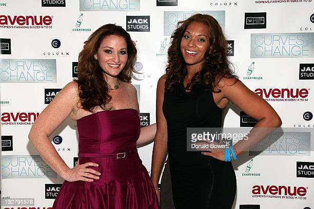 Bernadett Vajda and Julie Henderson attend The Models of Wilhelmina Curve Present Curves for Change at Jack Studios on October 21 2010 in New York...