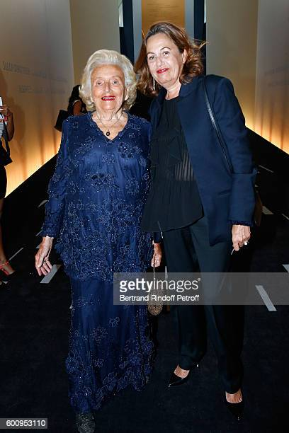 Bernadette Chirac and Anne Barrere attend the 28th Biennale des Antiquaires PreOpening at Grand Palais on September 8 2016 in Paris France