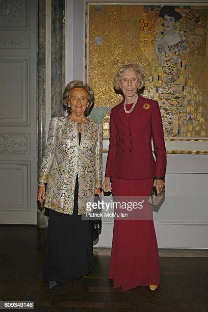 Bernadette Chirac and Claude Pompidou attend Madame Jacques Chirac Madame Georges Pompidou Mr Ronald Lauder and Mrs Randolph Hearst Host a Private...