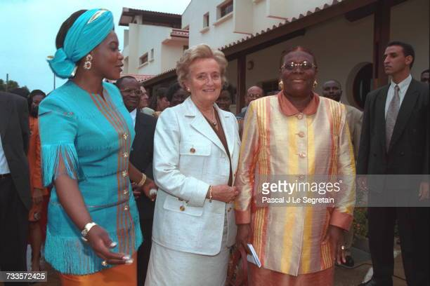 Bernadette Chirac and Edith Lucie Bongo