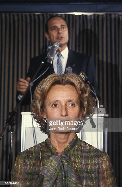 Bernadette Chirac and Jacques Chirac French politician in election campaign before the presidential elections France 1981