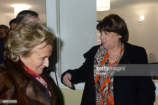 Bernadette Chirac and Martine Aubry attend the 25th Anniversary of Pieces Jaunes Bernadette Chirac's Press Conference At CHRU Jeanne De Flandres on...