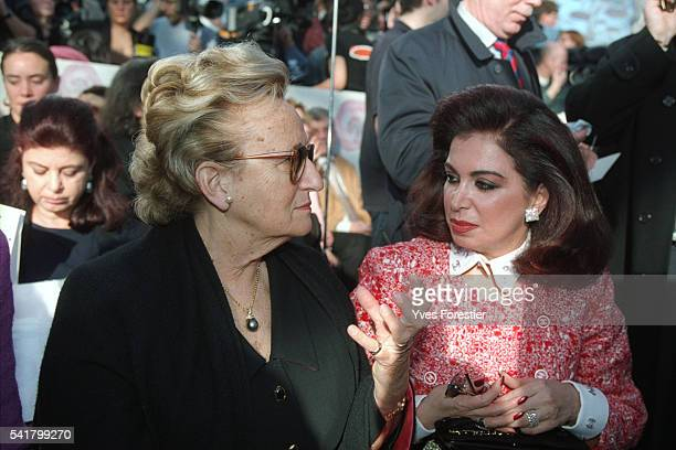 Bernadette Chirac and Nazek Hariri wife of Lebanese Prime Minister attend the Chanel 2002 Spring/Summer 'Haute Couture' fashion show