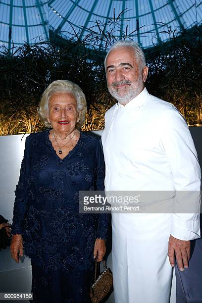 Bernadette Chirac and the Chef of the event Chef Guy Savoy attend the 28th Biennale des Antiquaires PreOpening at Grand Palais on September 8 2016 in...