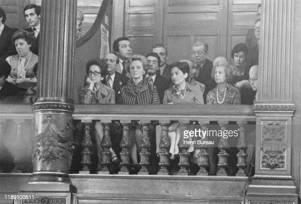 Bernadette Chirac and Xaviere Tiberi attends the official ceremony celebrating the election of Jacques Chirac as Mayor of Paris, 25 March 1977