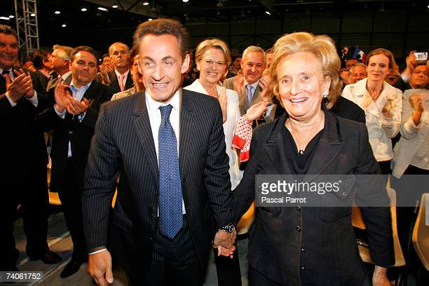 Bernadette Chirac arrives with Nicolas Sarkozy head of the centreright French conservative party UMP and candidate for the upcoming presidential...