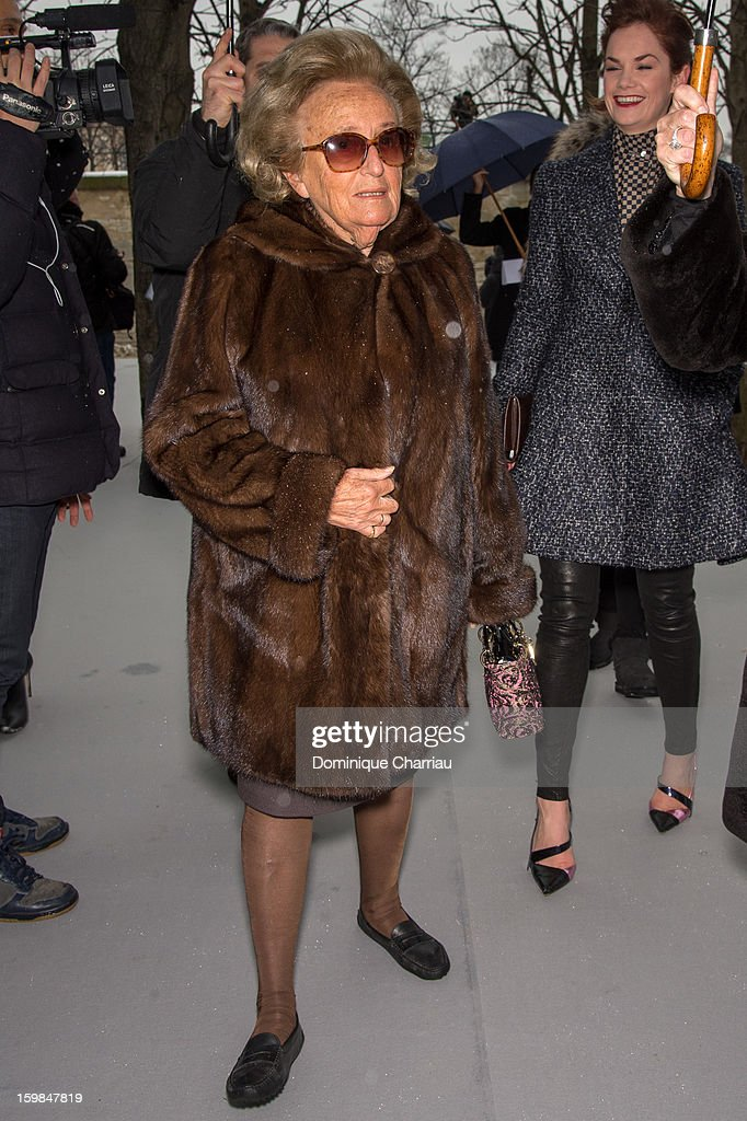 Bernadette Chirac attends the Christian Dior Spring/Summer 2013 Haute-Couture show as part of Paris Fashion Week at on January 21, 2013 in Paris, France.