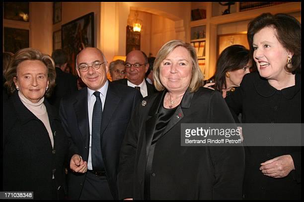 Bernadette Chirac Baron Jean De Gunzburg Maryvonne Pinault Princesse Laure De Beauvau Craon at Pierre Passebon Is Honoured With The Rank Of Chevalier...