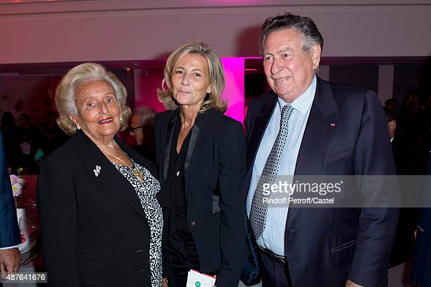 Bernadette Chirac Claire Chazal and Professor Claude Griscelli attend the Auction Dinner to Benefit 'Institiut Imagine' on September 10 2015 in Paris...