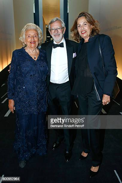 Bernadette Chirac Dominique Chevalier and Anne Barrere attend the 28th Biennale des Antiquaires PreOpening at Grand Palais on September 8 2016 in...