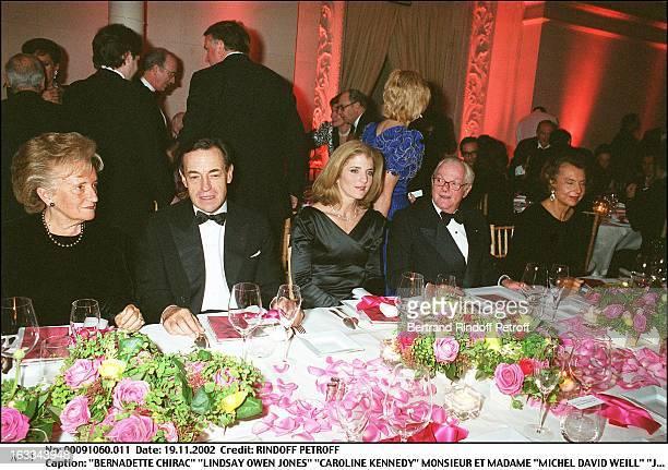 Bernadette Chirac 'Lindsay Owen Jones' 'Caroline Kennedy' Mr and Mrs 'Michel David Weill' 'Jacqueline Kennedy' exhibition Les Annees Maison Blanche...