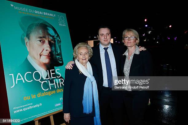 Bernadette Chirac Martin ReyChirac and Claude Chirac attends the 'Jacques Chirac ou le Dialogue des Cultures' Exhibition during the 10th Anniversary...
