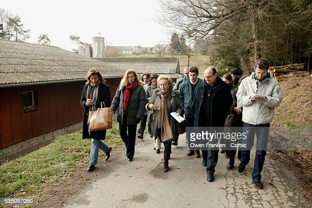 Bernadette Chirac, wife of French President Jacques Chirac, is on a campaign tour in her native Correze, southwestern France, with journalists and,...