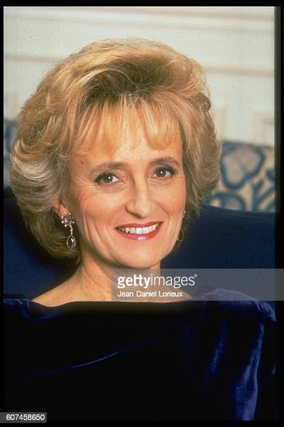 Bernadette Chirac wife of Paris mayor Jacques Chirac who is in the run up to the 1995 Presidential election