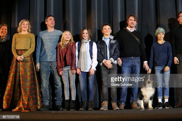 Bernadette Heerwagen, Alexander Schubert, Amelie Lammers, Allegra Tinnefeld, Marinus Hohmann, dog trainer and Ron Antony Renzenbrink during the...
