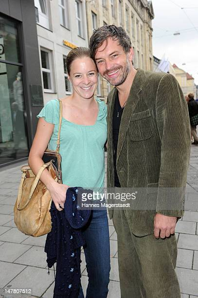 Bernadette Heerwagen and boyfriend Ole Puppe attend the ZDF reception during the Munich Film Festival 2012 at the H'ugo's on July 3 2012 in Munich...