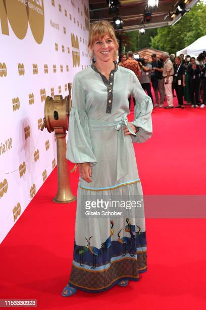 """Bernadette Heerwagen during the Bavaria Film Reception """"One Hundred Years in Motion"""" on the occasion of the 100th anniversary of the Bavaria Film..."""