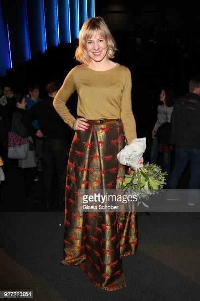 Bernadette Heerwagen during the 'Fuenf Freunde und das Tal der Dinosaurier' premiere at Mathaeser Kino on March 4, 2018 in Munich, Germany.