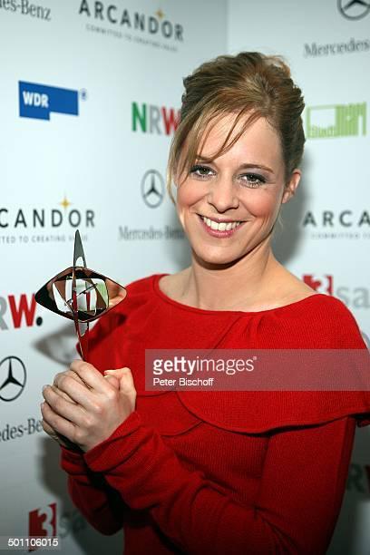 """Bernadette Herewagen , 44. Gala """"Adolf Grimme Preis""""-Verleihung, Theater, Marl, Nordrhein-Westfalen, Deutschland, Europa, Auszeichnung, Freude,..."""