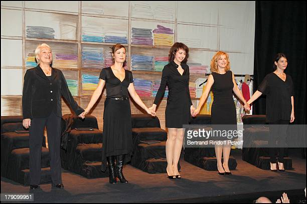 Bernadette Lafont Caroline Proust Valerie Bonneton Karin Viard Geraldine Pailhas at The Marigny Theatre In Paris Displaying Stage Costumes From The...