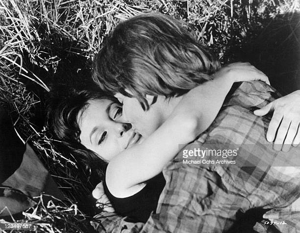 Bernadette Lafont is surprised to be seduced by her employer Claire Maurier in a scene from the film 'A Very Curious Girl' 1969
