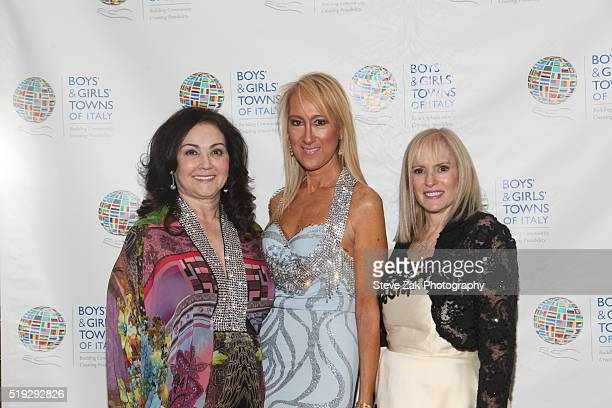 Bernadette Milito Contessina Francesca Braschi and Sharon MarantzWalsh attend The Boys' Girls' Towns of Italy's 2016 New York Spring Ball at The...