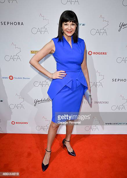 Bernadette Morre arrives at the 1st Annual Canadian Arts and Fashion Awards at the Fairmont Royal York Hotel on February 1 2014 in Toronto Canada