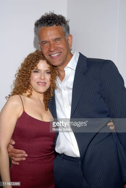 Bernadette Peters and Brian Stokes Mitchell attend the Bernadette Peters book release party for her book Broadway Barks at Le Cirque on May 12 2008...