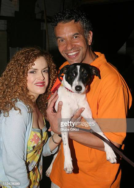Bernadette Peters and Brian Stokes Mitchell during Broadway Barks 5 in Shubert Alley at Shubert Alley in New York City New York United States