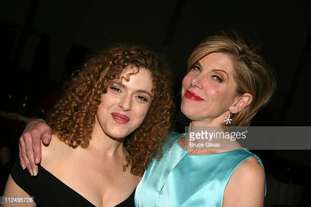Bernadette Peters and Christine Baranski during Roundabout Theatre Company's 2005 Spring Gala Celebration at Pier 60 at Chelsea Piers in New York NY...