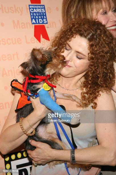 Bernadette Peters and dog, Molly during Broadway Barks! 8 at Shubert Alley in New York, NY, United States.