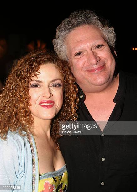 Bernadette Peters and Harvey Fierstein during Broadway Barks 5 in Shubert Alley at Shubert Alley in New York City New York United States