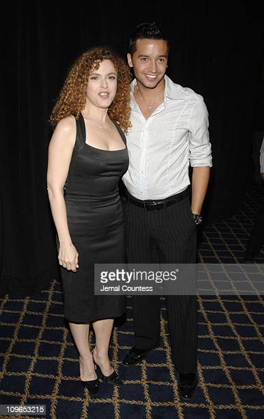 Bernadette Peters and Jai Rodriguez during Broadway's Celebrity Benefit for Hurricane Relief Backstage at The Gershwin Theatre in New York City New...