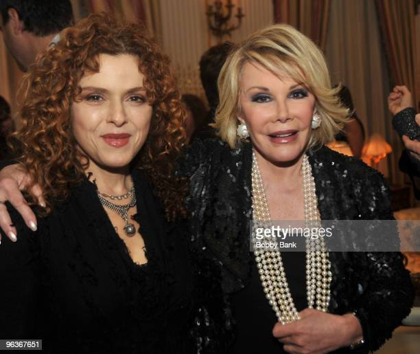 Bernadette Peters and Joan Rivers attends the launch of Melissa Rivers new book 'Red Carpet Ready' in Manhattan on February 2 2010 in New York City