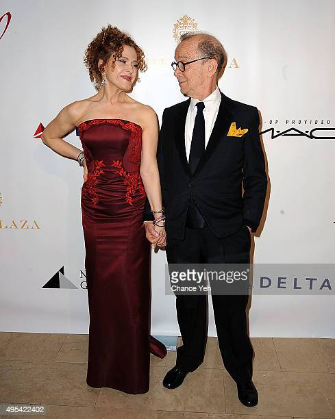 Bernadette Peters and Joel Grey attend The Drama League's Centennial Celebration honoring Bernadette Peters at The Plaza Hotel on November 2, 2015 in...