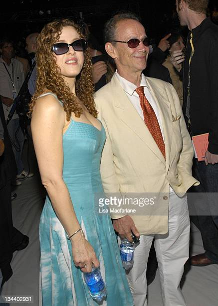 Bernadette Peters and Joel Grey during Olympus Fashion Week Spring 2006 Bill Blass Front Row at Bryant Park in New York City New York United States