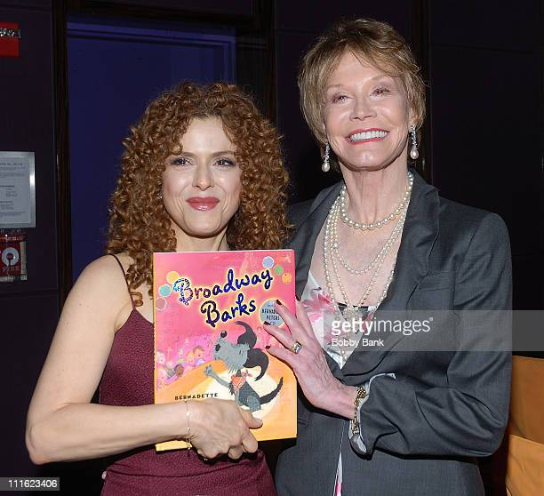 Bernadette Peters and Mary Tyler Moore attend the Bernadette Peters book release party for Broadway Barks at Le Cirque on May 12 2008 in New York City