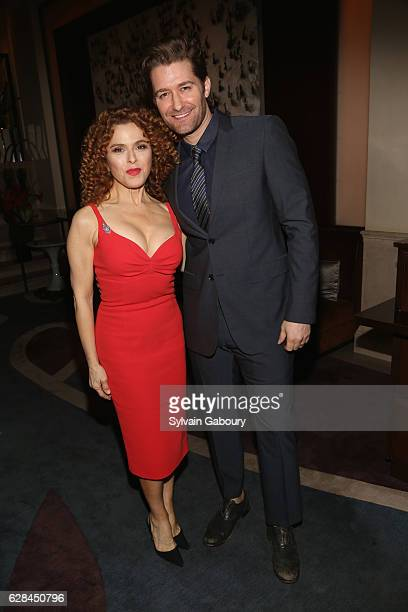 Bernadette Peters and Matthew Morrison attend The Prostate Cancer Research Foundation Benefit Dinner on December 7 2016 in New York City