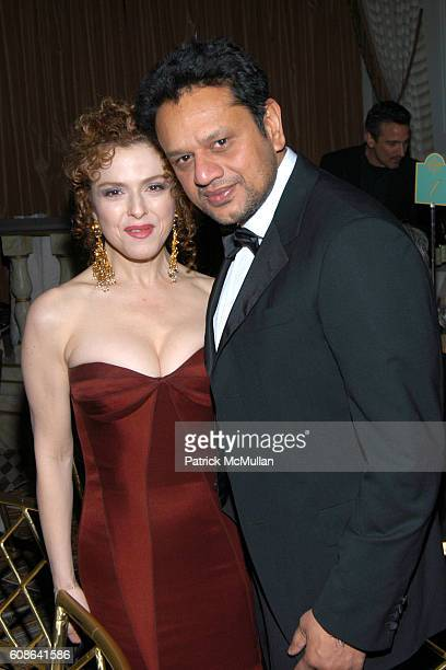 Bernadette Peters and Naeem Khan attend The Royal Rajasthan Gala Benefiting the Brain Trauma Foundation at The Pierre Hotel on March 7 2007 in New...