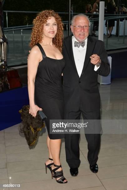 Bernadette Peters and Stan Herman attend the 2014 CFDA Fashion Awards at Alice Tully Hall Lincoln Center on June 2 2014 in New York City