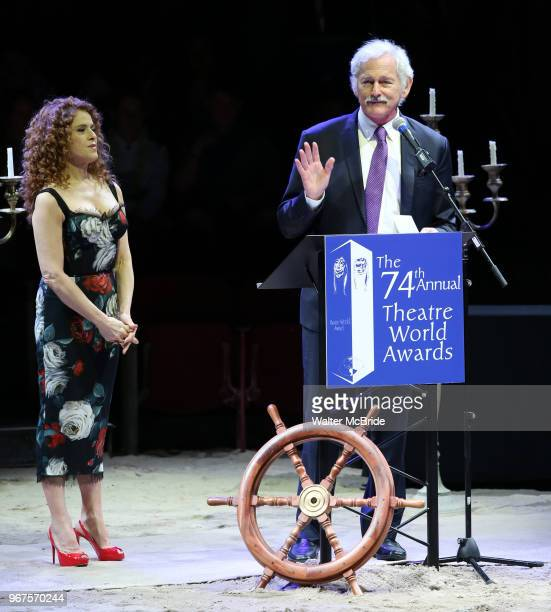 Bernadette Peters and Victor Garber during the 74th Annual Theatre World Awards at Circle in the Square on June 4 2018 in New York City