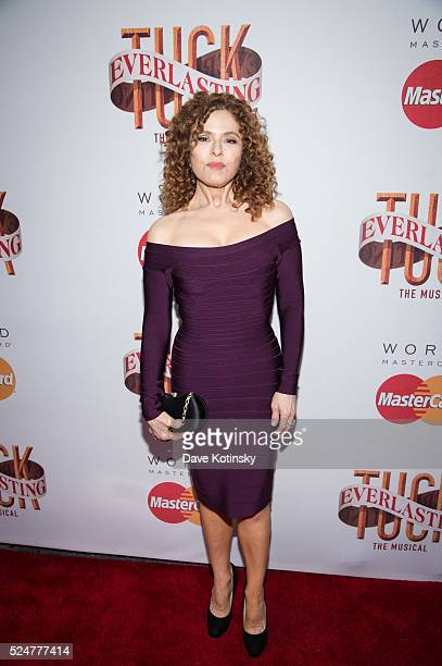 Bernadette Peters at Tuck Everlasting Broadway opening night at The Broadhurst Theatre on April 26 2016 in New York City