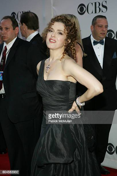 Bernadette Peters attends 60th Annual Tony Awards Arrivals at Radio City Music Hall on June 11 2005 in New York City