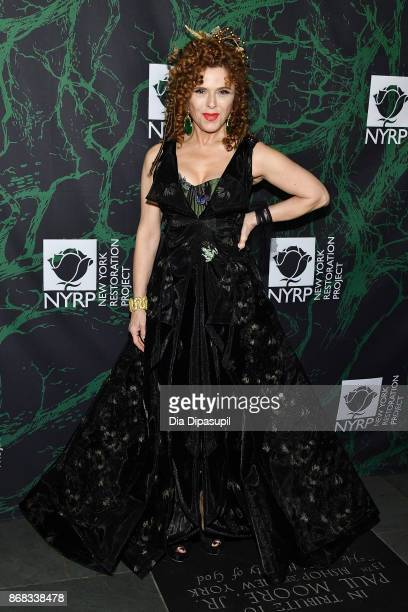 Bernadette Peters attends Bette Midler's 2017 Hulaween event benefiting the New York Restoration Project at Cathedral of St John the Divine on...