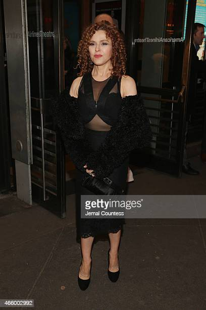 Bernadette Peters attends On The Twentieth Century opening night at Roundabout Theatre Company on March 12 2015 in New York City
