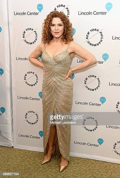 Bernadette Peters attends Sinatra Voice for A Century Event at David Geffen Hall on December 3 2015 in New York City