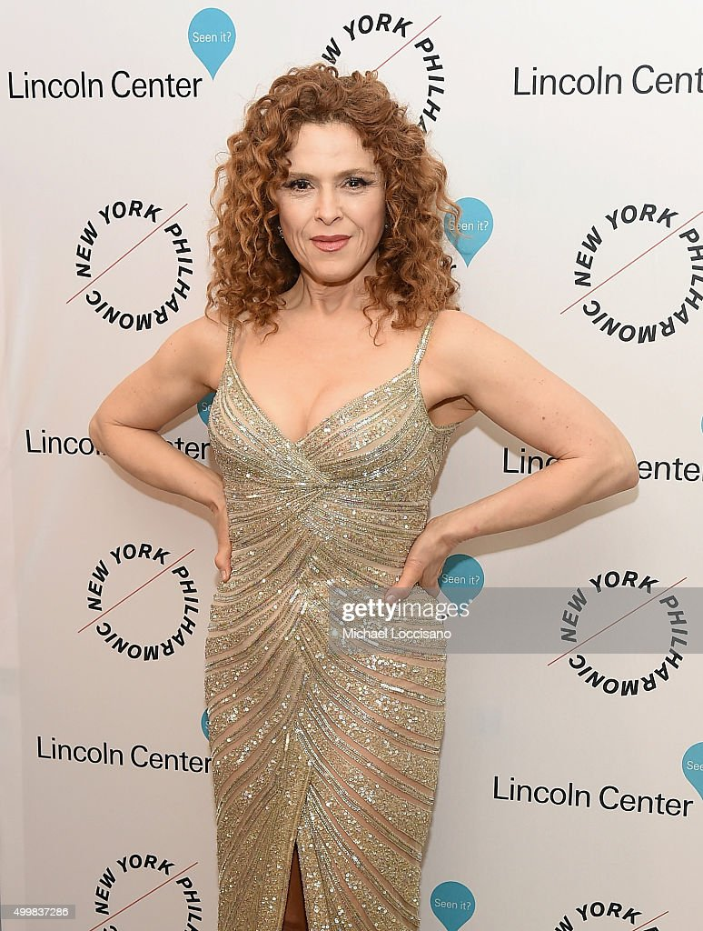 Bernadette Peters attends Sinatra Voice for A Century Event at David Geffen Hall on December 3, 2015 in New York City.